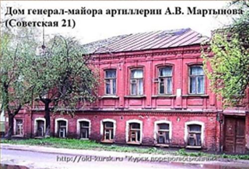 Дом генерал-майора артиллерии А.В. Мартынова